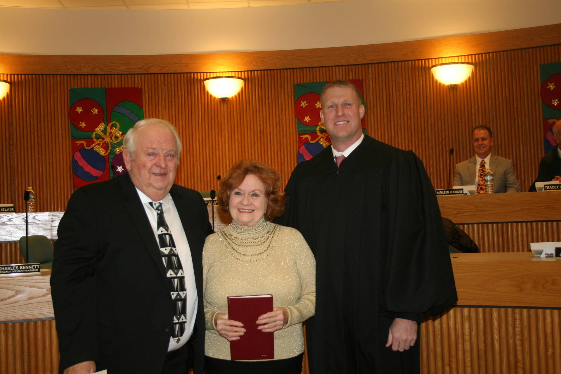Francis and Joyce Sockman with Magisterial District Judge Mike Thatcher