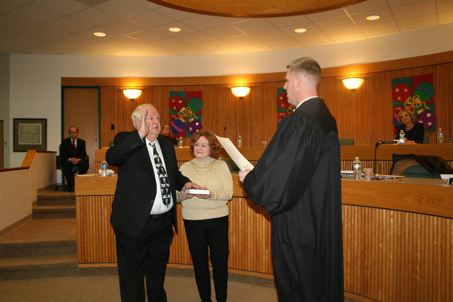 Francis Sockman is Sworn in for second term in Council