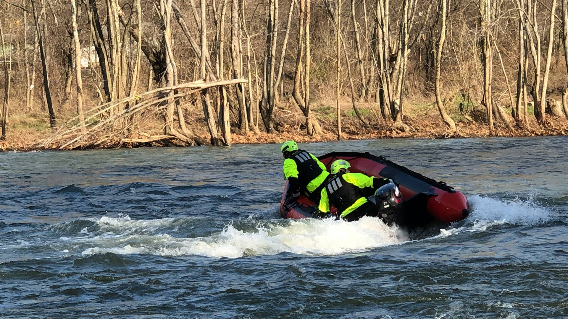 Jefferson Hills VFD Swift Water Rescue Training on the Water at McConnells Mill